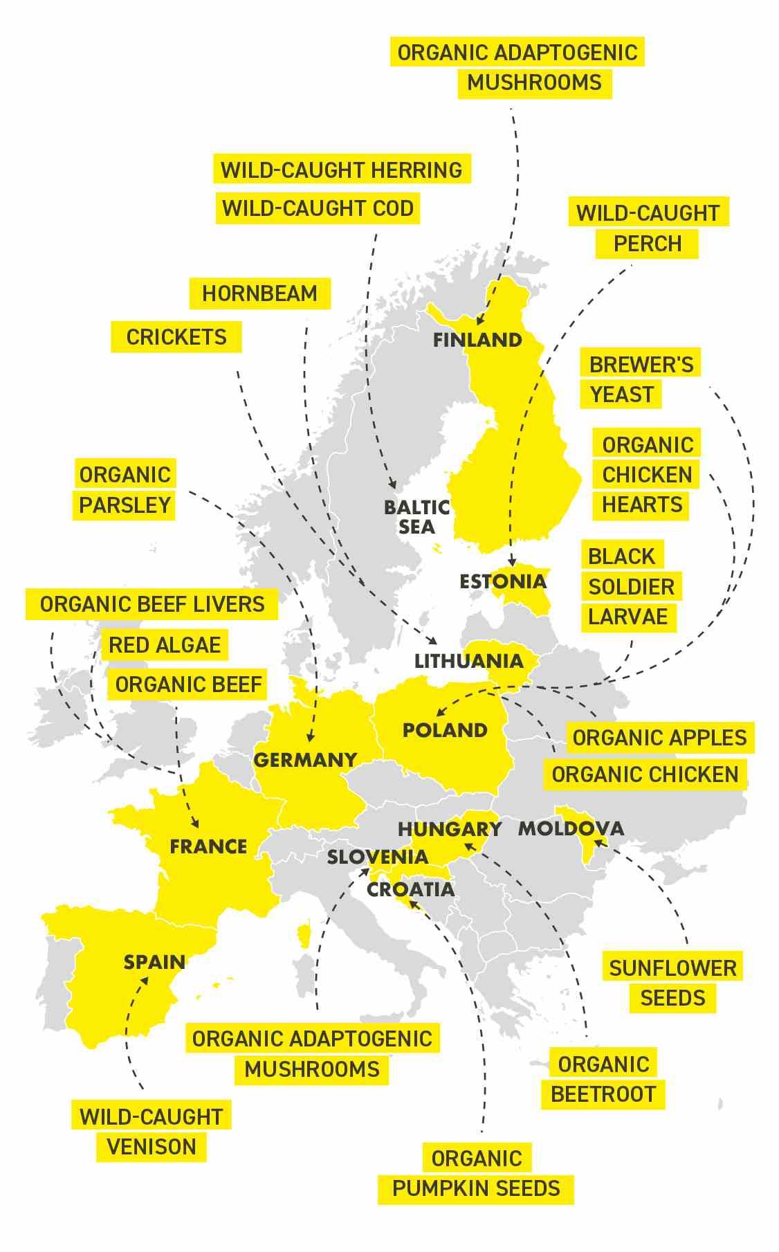 Ingredients map